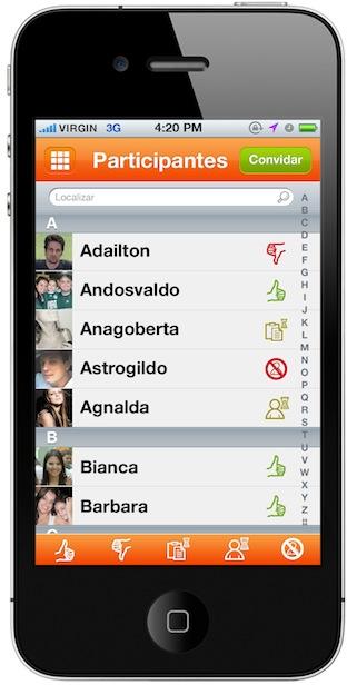 9 - Participantes - Lista com Icones